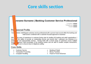 Core skills CV
