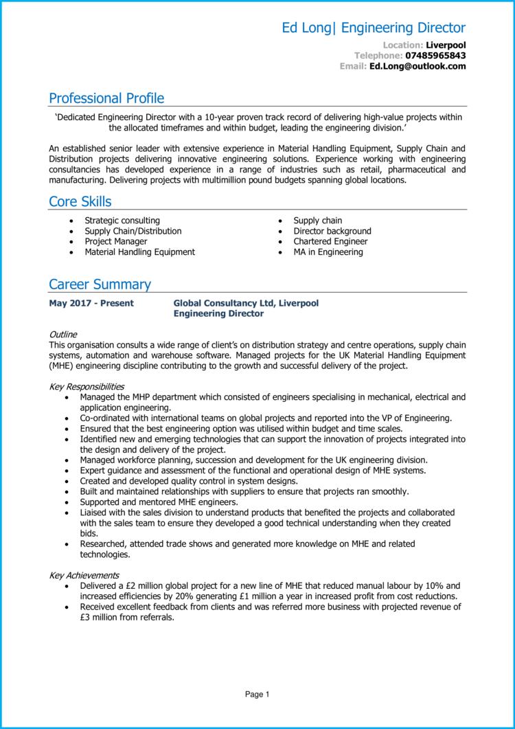 Engineering Director CV 1