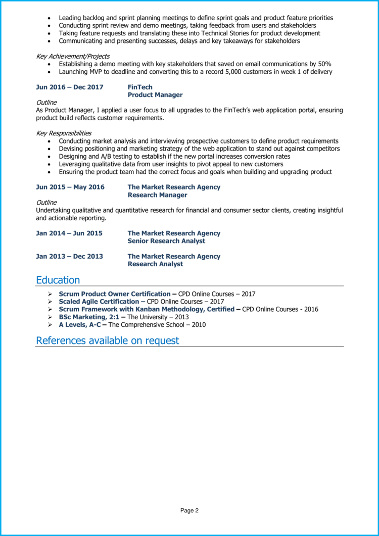 Product Owner CV 2