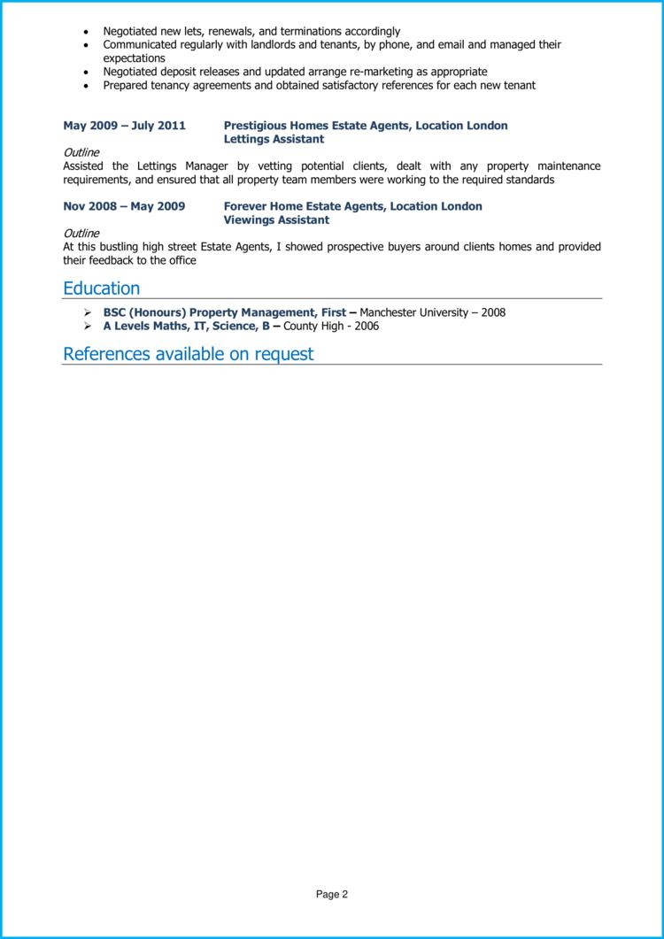 Property Manager CV 2