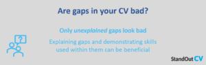 Are CV gaps bad
