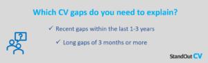 Explain CV gaps