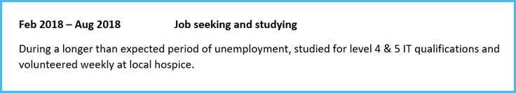 Job search career gap