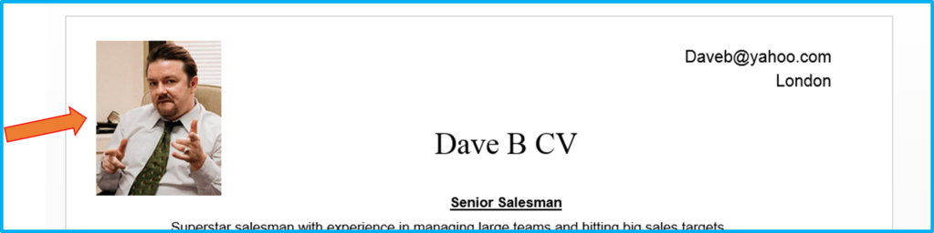 Should you include a photo on your CV