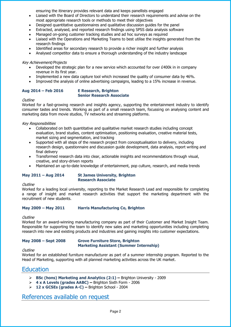 Research Manager CV 2
