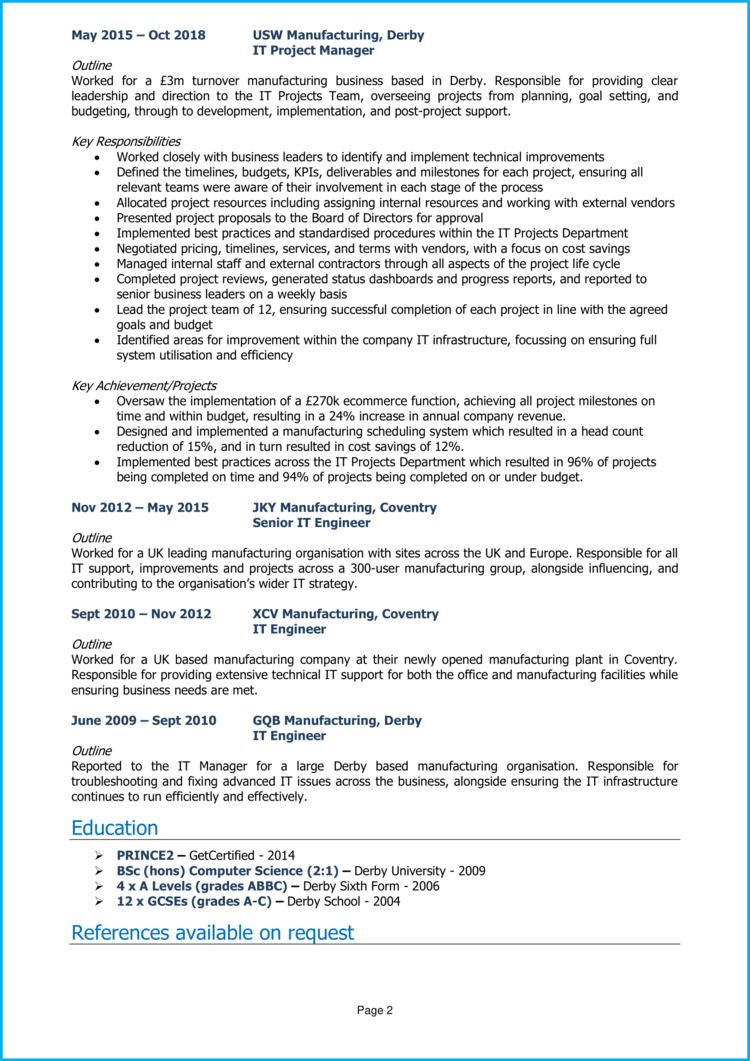Technical Manager CV 2
