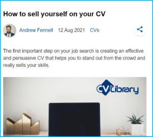 CV Library article